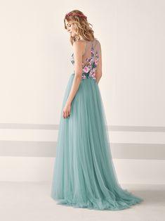 Vestido de fiesta romántico con espalda descubierta JAMIN | Pronovias