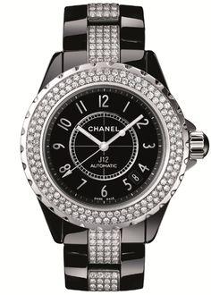 H1339, 38mm Black Ceramic diamond bezel and diamond bracelet----. Chanel  J12Chanel ... dfa29a982593