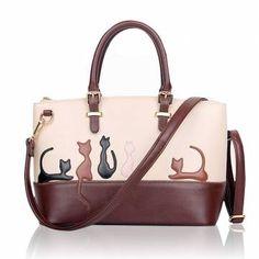 Sacs femmes animaux contraste couleur sacs à main chat Sacs bandoulière de  lap - €25.28 c168d4dbc94