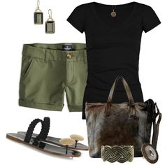 """""""Simple Black and Olive"""" by fashionista88 on Polyvore"""