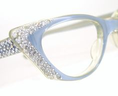 Vintage Ice Blue Cat eye Glasses Sunglasses by Vintage50sEyewear, $118.00