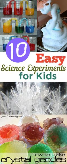 10 Easy Science Experiments for Kids. Fun science experiments and ideas that are EASY with little mess:)