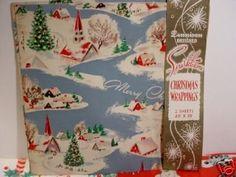 "1940 âe""50âe(tm)s VINTAGE DENNISON CHRISTMAS WRAPPING PAPER (12/17/2007)"