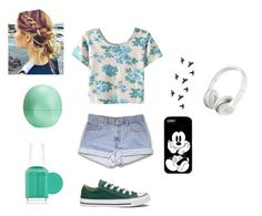 """""""Untitled #19"""" by brooke21-1 ❤ liked on Polyvore featuring WithChic, Eos, Essie, Converse and Beats by Dr. Dre"""