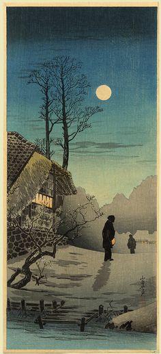 Moonlight at Funayada Boathouse, Shotei