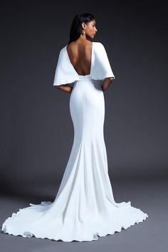 White wedding dress with cape / bridesmaids dresses / White bridal shower dress / wedding reception dress / Wedding dresses / Bridal dress White Bridesmaid Dresses, White Wedding Dresses, Bridal Dresses, Wedding Gowns, Wedding White, White Bridal Shower Dress, Dress Vestidos, Vogue, Shower Dresses