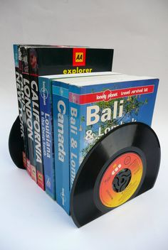 Record Bookends Handmade from 7 Vinyl Records by WhenTheMusicsOver,