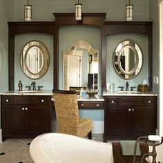 bathroom vanity ideas | your master bath a relaxing retreat with decorating and design ideas ...