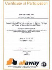 Allaway--Certyfikat