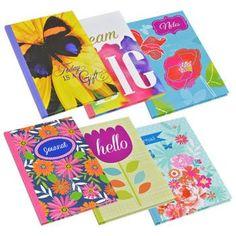"60-Sheet Fashion Hardback Journals, 5x7"" (Set of 6)"