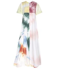 Multicolored ROSIE ASSOULIN  casual dress  for woman Gonzo Multicoloured Printed Cotton Dress By Rosie Assoulin #vestidoinformal #camisole #túnica #shift #pleat #pleated #drape #t-shape #daisy #foldedshoulder #summer #loosefit #tunictop #swing #day #offtheshoulder #smock #print #printed #tea #babydolldress #polodress #pansybow #sundress #offshoulder