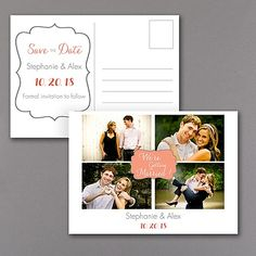 We're Getting Married Photo Save the Date Postcard 40% OFF  |  http://mediaplus.carlsoncraft.com/Wedding/Save-the-Dates/WA-WA32984NFC-Were-Getting-Married--Photo-Save-the-Date-Postcard.pro  |  WA32984NFC You're getting married! Tell everyone in personal style with this unique save the date postcard. Your photos and your choice of colors make it custom.