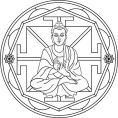 Mandala Buda Mandala para pintar en honor a Buda, Siddhārtha ...