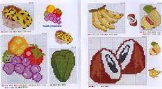 gráficos de frutas e verduras em ponto cruz - Bing images