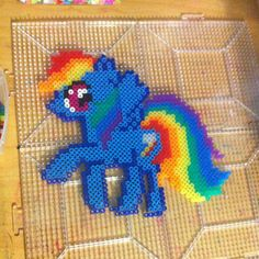 MLP Rainbow Dash perler beads by Tricia