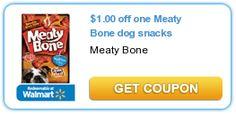 $1.00 off one Meaty Bone dog snacks