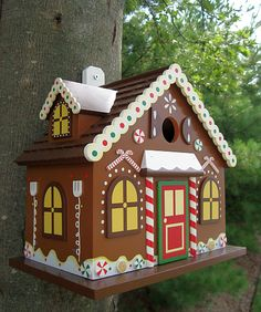 Holiday Series Gingerbread House Birdhouse