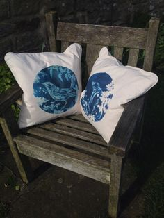 New limited edition cushion #designs based on original #cyanotype COMING SOON! £35 inc uk postage. pre-orders welcome  by Witchmountain