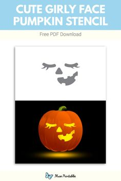 Printable Pumpkin Stencils, Halloween Pumpkin Carving Stencils, Pumkin Carving, Free Stencils, Halloween Pumpkins, Free Printables, Girly, Fall, Cute
