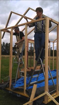 The is now ready for the roof,here we show the beginnings of the A frame and how it is attached to the walls. Shepherds Hut, Douglas Fir, Walls, Construction, Frame, Building, Picture Frame, Frames