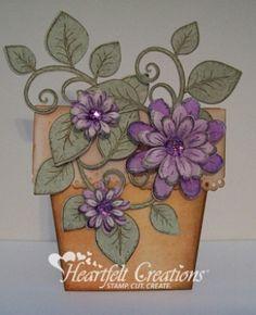 Heartfelt Creations | Purple Flower Pot