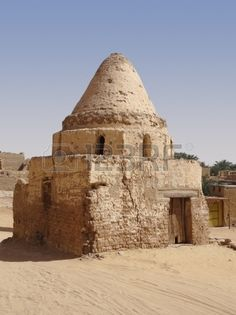 old town scenery of Al Qasr a village in the Dakhla Oasis in Egypt Stock Photo