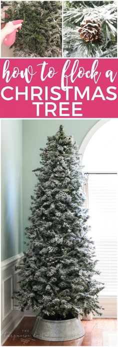 how to flock a christmas tree the easy way make your wintery tree dreams come true