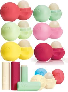 EOS Lip Balm- love these!! They are organic and work great! Ive heard the lemon one and the sweet mint one smell good.$2.99