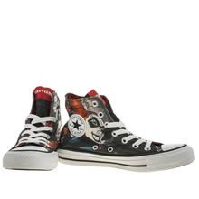 womens converse black & red all star harley quinn trainers