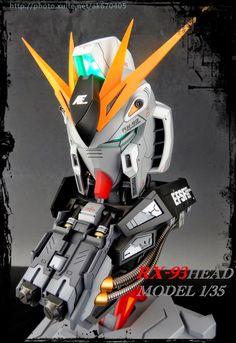 Custom Build: 1/35 RX-93 nu Gundam Head Display - Gundam Kits Collection News and Reviews