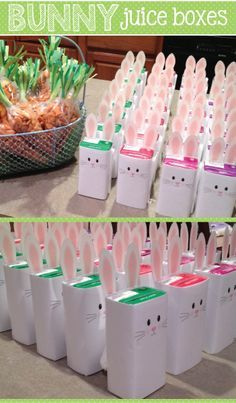 Bunny Juice Box Wrap-create a fun, healthy treat for Easter or spring