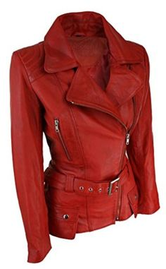 NEU Damenjacke Echtleder Rot Grösse S-M Red Leather, Leather Jacket, Models, Elegant, Fashion, Smooth Leather, Red, Jackets, Giving Up