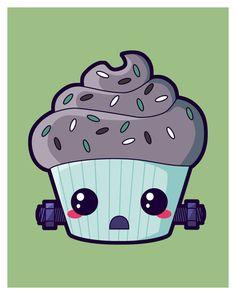 Frankenstein's Monster Cupcake