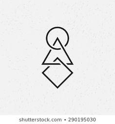 Interlocked Circle Triangle And Square Geometric Symbols Stock Vector - Illustration of computer design: 56023079 Dr Tattoo, Dreieckiges Tattoos, Circle Tattoos, Neue Tattoos, Home Tattoo, Triangle Tattoos, Arrow Tattoos, Friend Tattoos, Mini Tattoos