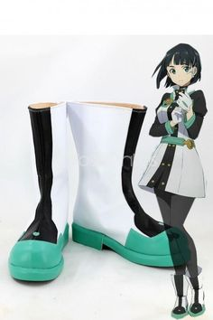 Sword Art Online The Movie: Ordinal Scale Leafa Cosplay Boots Miku Cosplay, Cosplay Wigs, Cosplay Costumes, Sword Art Online, Online Art, Cosplay Boots, Magical Girl, Journal Ideas, Dress Making