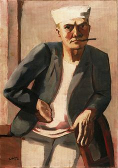 Max Beckmann:Self-Portrait with White Cap (1926)