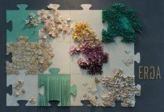 Erga Design - Zero Waste Land    Magnetic wallpaper made out of LEILA HAFZI waste fabrics.
