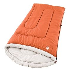 Coleman Sabine Large Cold-Weather Scoop Sleeping Bag. Great for big & tall sizes: measures 39-Inchx84-Inch and fits most people up to 6-Inch4-Inch. 5 lbs. of ColeTherm insulation keeps you comfortable at 40° to 20Degree Fahrenheit. Unique shape creates a comfortable headrest to keep your head & pillow off the floor. ComfortSmart technology keeps heat in, insulation in place, zippers working right, and comfort a priority. QuickCord storage for easy, no-tie closure.