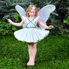 Christmas Tree fairy is ready to celebrate the holidays, in your garden, or hanging from your fairy inspired Christmas tree Christmas Tree Fairy, Fairy Garden Supplies, Fairy Figurines, Fairy Garden Accessories, Wood Carving, Elves, Harajuku, Seasons, Pixies