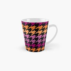 Hounds Tooth, Lesbian, Ceramics, Art Prints, Mugs, Abstract, Purple, Printed, Awesome