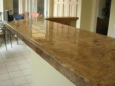 Tile Kitchen Countertop Refinshing After