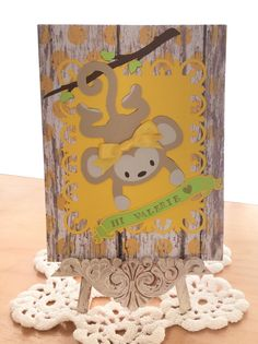 Thinking of You Card / Made with Spellbinders Fleur De Lis Rectangles, Cricut Life's A Party and Mother's Day 2010 Cartridges / Handcrafted By Cindy Babich (Cindyswishestogive 2016)