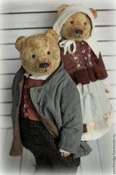 Мишки Тедди ручной работы. Ярмарка Мастеров - ручная работа. Купить Вечная любовь...Гордей и Матрёна. Handmade. Коричневый
