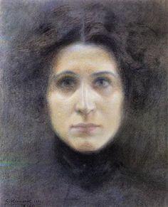 Ritratto di Irma Gramatica (Giorgio Kienerk, c. 1901, Musei Civici, Pavia)
