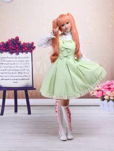Sleeveless Bow Cotton Sweet Lolita Dress - Milanoo.com