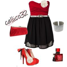 Red an black, created by callico32 on Polyvore