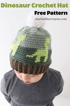 9e35cc27cac Crochet Dinosaur Hat for Kids - Free Crochet Pattern