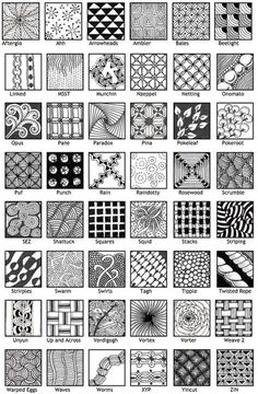Landscape Drawing Step By Step Zentangle Patterns Ideas Easy Doodles Drawings, Easy Doodle Art, Doodle Art Drawing, Zentangle Drawings, Simple Doodles, Art Drawings Sketches Simple, Doodles Zentangles, Drawing Ideas, Drawing Step