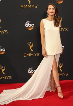 Keri Russell in a Stephane Rolland Paris gown for the 68th Annual Primetime Emmy Awards on September 18, 2016 at the Microsoft Theatre in Los Angeles