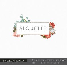 Floral Frame Logo - Premade Photography Logo and Watermark Design - Boutique Logo - Business Branding